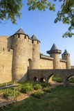 Castle of Carcassonne. Is a medieval fortified French town in the Region of Languedoc-Roussillon, France Stock Photography