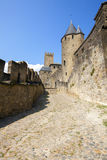 Castle of Carcassonne. Is a medieval fortified French town in the Region of Languedoc-Roussillon, France Stock Photo