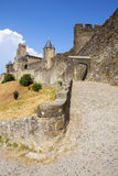 Castle of Carcassonne. Is a medieval fortified French town in the Region of Languedoc-Roussillon, France Royalty Free Stock Image