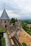 Castle of Carcassonne - south of France Royalty Free Stock Photo