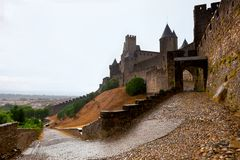 Castle of Carcassonne - south of France Royalty Free Stock Photography