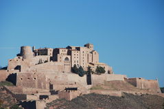 The Castle of Cardona. Panoramic view of the Castle of Cardona, Catalonia, Spain Royalty Free Stock Image
