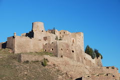 Castle of Cardona. Panoramic view of the Castle of Cardona, Catalonia, Spain Stock Image