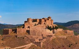 The castle of Cardona, Spain Stock Photos