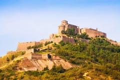 Castle of Cardona on sunny summer day Royalty Free Stock Photo