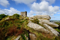 The Castle at carn Brea in Cornwall Royalty Free Stock Photo