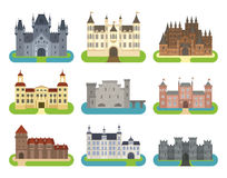 Castle cartoon vector set Royalty Free Stock Image