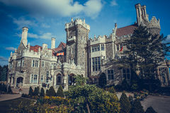Castle of Casa Loma in Toronto. In the summer stock photo