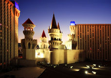 Castle Casino in Las Vegas at night Stock Photo