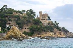 Castle Castell δ ` EN Plaja, Lloret de Mar, Ισπανία στοκ εικόνα με δικαίωμα ελεύθερης χρήσης