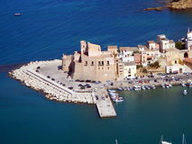 The castle of Castellammare del Golfo Royalty Free Stock Photography