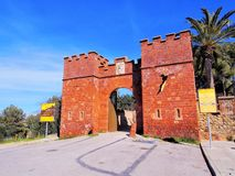Castle in Castelldefels Royalty Free Stock Photos