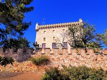 Castle in Castelldefels Stock Images