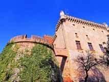 Castle in Castelldefels Royalty Free Stock Images