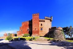 Castle in Castelldefels Stock Photography