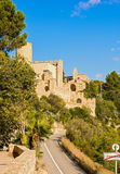 Castle of Castellet and the Hermitage of St. Peter Stock Photography