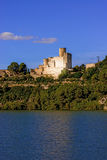 Castle of Castellet near Barcelona, Spain Stock Images