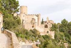 Castle of Castellet near Barcelona, Spain Royalty Free Stock Photo