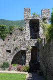 Castle Castello di Vezio tower near Varenna at Lake Como, Lake Como, Lombardy Stock Photo