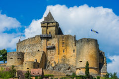 Castle of castelnaud la chapelle france Royalty Free Stock Photo