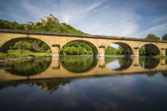 Castle of Castelnaud Stock Images