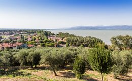 Castle of Castiglione del lago, Trasimeno, Italy Royalty Free Stock Photos