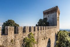 Castle of Castiglione del lago, Trasimeno, Italy Royalty Free Stock Photo
