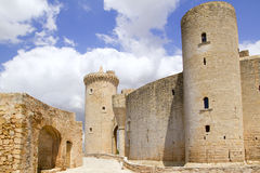 Castle Castillo de Bellver dans Majorca Photos stock
