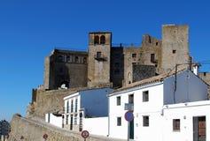 Castle, Castillo de Castellar, Spain. View of the castle on top on the hill, Castillo de Castellar, Cadiz Province, Andalusia, Spain, Western Europe Stock Photos