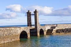 Castle Castillo de SAN Gabriel Arrecife Lanzarote Το καναρίνι είναι Στοκ φωτογραφία με δικαίωμα ελεύθερης χρήσης