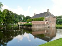 The castle and the castle-moat of Verhildersum Stock Photo