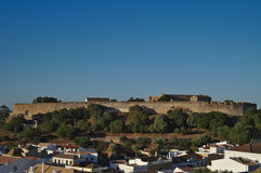 Castle of Castro Marim from the hill Stock Photo