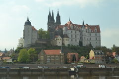 Castle and cathedral in the Eastern Part of Germany Royalty Free Stock Image