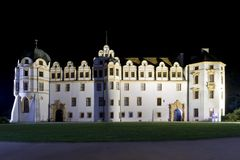 Castle in Celle, Germany, illuminated Royalty Free Stock Images