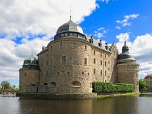 Castle in the center of Örebro, surrounded by water Stock Photos