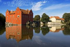 The castle Cervena Lhota Stock Photo