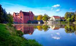 Castle Cervena lhota. Photography of castle Cervena lhota, Czech Republic stock image