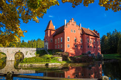 Castle Cervena Lhota. Photography of a castle Cervena Lhota in South part of Czech Republic stock image