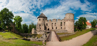 Castle in Cesis Royalty Free Stock Photos