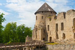 Castle in Cesis Royalty Free Stock Image