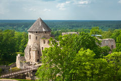 Castle in Cesis Royalty Free Stock Photography