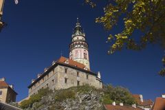 Castle in Cesky Krumlov Royalty Free Stock Images