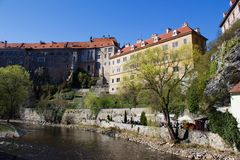 Castle in Cesky Krumlov Stock Photography