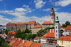 Castle Cesky Krumlov Royalty Free Stock Photography