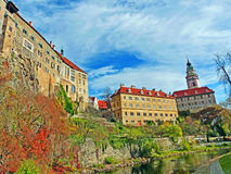 The Castle of Cesky Krumlov in Autumn Royalty Free Stock Photography