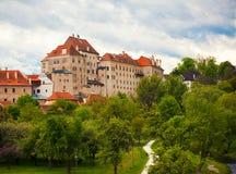 Castle in Cesky Krumlov royalty free stock photo
