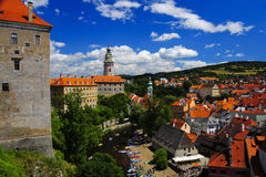 Castle Cesky Krumlov, Czech Republic Stock Images