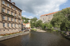 Castle cesky krumlov czech republic europe Stock Photography