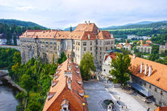 Castle in Cesky Krumlov, Czech Republic, UNESCO World Heritage Royalty Free Stock Photos