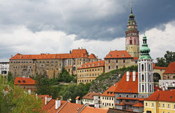 Castle Cesky Krumlov Stock Photography